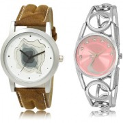 The Shopoholic White Pink Combo New Stylist Latest White And Pink Dial Analog Watch For Boys And Girls Watches For Men Stylish