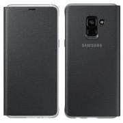 Samsung Neon Flip Cover Neon Edge - Lighting Samsung Galaxy A8 2018 A530 fekete (EF - FA530PBEGWW) tok telefontok hátlap