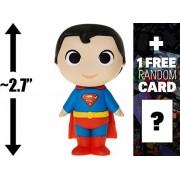 "Superman: ~2.7"" DC Comics Super Heroes x Funko Mystery Minis Vinyl Figure + 1 FREE Official DC Trading Card Bundle (113465)"