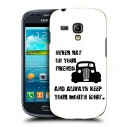 Husa Samsung Galaxy S3 Mini i8190 i8200 Silicon Gel Tpu Model Never Rat On Your Friends B&W
