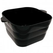 Paderno Vasque à champagne rectangulaire en acrylique noire 43X35X20cm - Vasque à champagne - Paderno