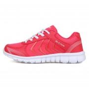 Zapatillas De Deporte Tenis Casuales Unisexo Zapatos Corrientes De Malla Transpirable -Rojo