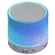 JAMPAK LED Bluetooth Speakers FM Radio for All Android iPhone Smartphones (Assorted Colour) 5 Bluetooth Speaker (Bl