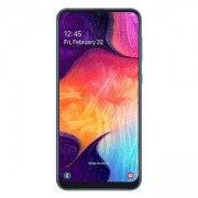 Смартфон Samsung SM-A505F GALAXY A50, 6.4 инча (2340x1080), Dual SIM, 4GB/128GB памет, тройна задна камера 25 MP+5 MP+8 MP, син, SM-A505FZBSBGL