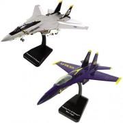 SMITHSONIAN InAir E-Z Build, 2-piece Set, F-18 Hornet Blue Angels & F-14 Tomcat Jolly Roger
