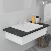 vidaXL Lavabo encastré 42 x 39 x 18 cm Céramique Blanc