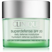 Clinique Superdefense creme de dia protetor e hidratante para pele seca e mista SPF 20 50 ml
