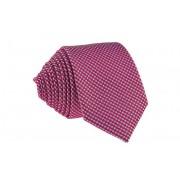 Pánská červená slim kravata se vzory - 6 cm