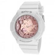 reloj genuino casio baby-g ladies BGA-131-7B2DR (hora mundial 29 zonas horarias)-rosa blanco