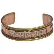 Men Style Om Sairam Openable Brown Copper Half Kada Kada For Men And Women
