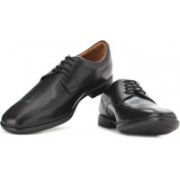 Clarks Gosworth Over Black Leather Lace up For Men(Black)