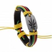 Marihuánás reggae karkötő