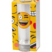 Happy Winky Face Emoji Drink Glas 14 cm