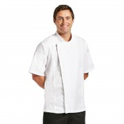 Chef Works Urban Chef Works Springfield Zipper Mens Chefs Jacket White S Size: S
