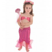 Disfraz de Sirenita Rosa Set - Creaciones Llopis