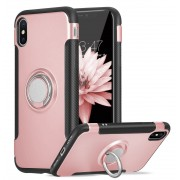 Rose Gold iPhone XR Metal 360 Degree Metal Ring Armour Stand Case