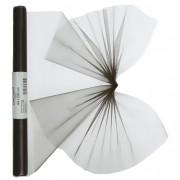 Merkloos Organza strook zwart 40 x 200 cm
