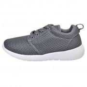 vidaXL Női fűzős futó edző cipő szürke 37