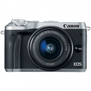 Canon EOS M6 Aparat Foto Mirrorless 24MP APSC Full HD Kit cu Obiectiv EF-M 15-45 F/3.5-6.3 IS STM Argintiu
