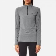 Asics Women's Long Sleeve 1/2 Zip Jersey - Dark Grey Heather - S - Grey