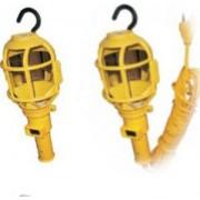 Lampa portabila 1x100W 1xE27 Galben cu lupa si cablu 10m - Adeleq