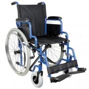 sedia a rotelle / carrozzina oxford - tessuto nero - portata 120kg - v