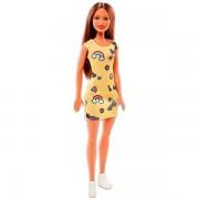 Barbie: Păpuşă Barbie Chic în rochiţă galbenă - brunet