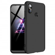 GKK 360 Protection telefon tok hátlap tok Első és hátsó tok telefon tok hátlap az egész testet fedő Xiaomi redmi 6 NOTE Pro fekete