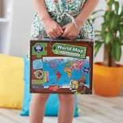 Orchard Toys Puzzle si poster Harta lumii (limba engleza 150 piese) World Map Puzzle & Poster