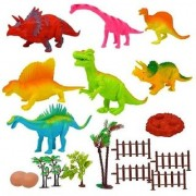 Emob Amazing Realistic Look Dinosaur Kingdom figures Play Set Toy for Kids (Multicolor)
