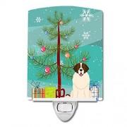 Caroline's Treasures Merry Christmas Tree Luz Nocturna de cerámica, diseño de Perro guardián de Moscú, 15,2 x 10,1 cm, Multicolor