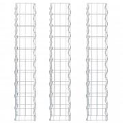 [pro.tec]® Комплект от 3 броя градински габиони - ограда