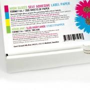 Självhäftande högblankt A4 etikettpapper, 200 ark