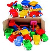Vehiculele într-o cutie - un set de 18pcs pre. diferite culori