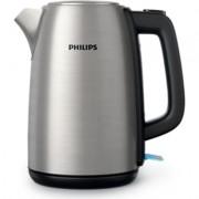 Philips Електрическа кана Daily Collection, Metal, Капак с пружина, Светлинен индикатор, 1, 7 л