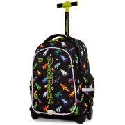 Świecący plecak szkolny na kółkach CoolPack Junior LED 24 L, Rockets