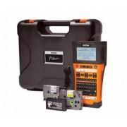 Sistem de Etichetare Brother PTE300VPYJ1, 8 marimi imprimare, QWERTY, ecran LCD (Portocaliu)