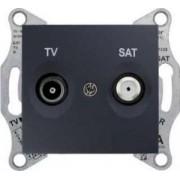 SEDNA TV-R-SAT aljzat átmenő 4 db Grafit SDN3401270 - Schneider Electric