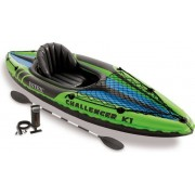 intex 68305np/ep Kayak Gonfiabile Mare 1 Posto Cm 274x76x33 H Peso Max 100 Gonfiatore E Remo Inclusi - Challenger K1 - 68305np/ep