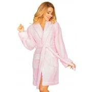 Halat cald de baie pentru femei Paleo roz deschis L