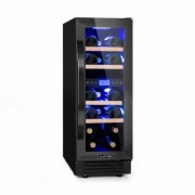 Vinovilla 17 Built-in Duo Onyx Edition Two-Zone Wine Fridge 53l 17 Bottles 3-Colour Glass Door