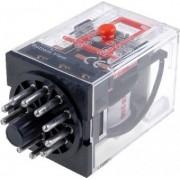 Releu intermediar cu led si test buton 11 picioare AC/DC 24V ADELQ