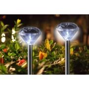 4 db napelemes LED gyémánt világítás hideg fehér 34,5 cm