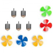 combo offer 5 Small Electric Dc Toy Motor with Fan or 3V to 9V DC Flat Small Size Toy Motor with 5fans