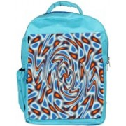 Snoogg Eco Friendly Canvas Abstract Patterned Design Designer Backpack Rucksack School Travel Unisex Casual Canvas Bag Bookbag Satchel 5 L Backpack(Blue)