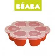 Beaba Silikonowy pojemnik do mrożenia mleka, pokarmu, 6 x 90 ml paprika,