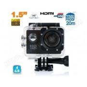 YONIS Caméra sport action étanche ECRAN 1,5 HD 1080p grand angle 140° Noir 4Go