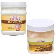 PINK ROOT DE TAN MASK 500GM WITH GOLD CREAM 500GM