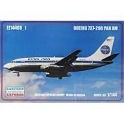 Eastern Express Plastikowy model samolotu pasażerskiego Boeing 737-200 linii Pan Am do sklejania Eastern Express 14469-1 w skali 1:144