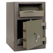 Seif cu fanta de depunere,certificat EN14450, Clasa S1, Model ASD/19K, , cheie, 460 x 440 x 440 mm